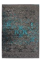 Lalee Flacher Vintageteppich, Grau, 120 x 170 cm