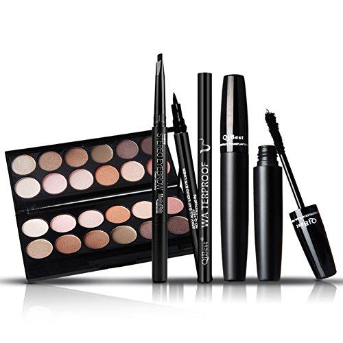 Thinkmax 3D Mascara Lidschatten Eyeliner Augenbrauen Kosmetik Make-up Kombination Set