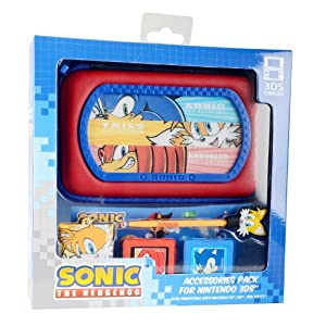NEW! Sonic The Hedgehog 6-in-1 Nintendo 3DS DSi DS Lite Accessory Kit
