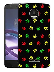 "Humor Gang Grass Pattern - Multicolor Printed Designer Mobile Back Cover For ""Motorola Moto Z Force"" (3D, Matte Finish, Premium Quality, Protective Snap On Slim Hard Phone Case, Multi Color)"