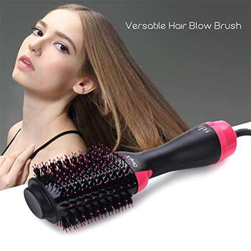 Brosse Soufflante,Brosse Sèche-cheveux,1000W Brush/Peigne Lissante Chauffante Ionique- Peut Faire les Cheveux Bouclés/Lissés