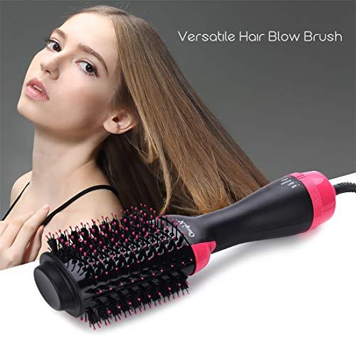 Brosse Soufflante,Brosse Sèche-cheveux,1000W Brush/Peigne Lissante Chauffante Ionique- Peut Faire...