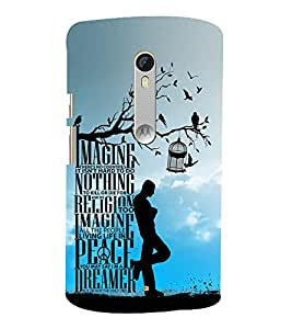 Imagine Peace Dreamer 3D Hard Polycarbonate Designer Back Case Cover for Moto G Turbo Edition