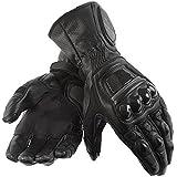 Juicy Trendz Men's Heavy Duty Leather Motorbike Motorcycle Biker Gloves B4N Black XL