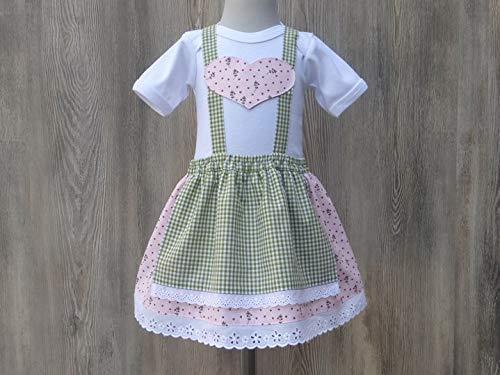 Taufe in Bayern, Babybody im Trachtenstil, Dirndl fürs Kind, Kleid fürs Oktoberfest, Babys erstes Dirndl, Babydirndl, rosa Taufkleid
