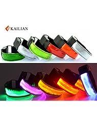 Kailian ® Courir clignotant bracelet / Étanche LED Light Brassard marche en toute sécurité, visibilité clignotant Brassard sécurité Cyclisme Jogging Marcher réfléchissant LED Brassard (6 couleurs disponibles)