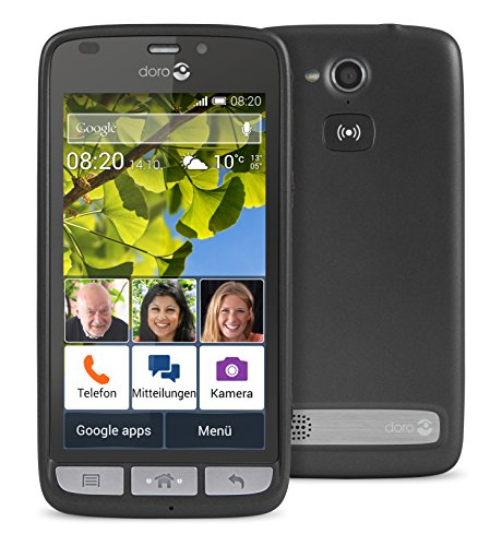 Doro Liberto 820 3G Smartphone (11,4 cm (4,5 Zoll) Touchscreen, 8 Megapixel Kamera, 1 GB RAM, GPS, Bluetooth 4.0, WiFi, Android 4.4) mit Experience Benutzeroberfläche schwarz - 10