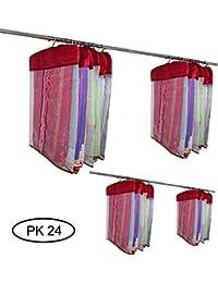 Fancy Walas Pack Of 24 Pcs Multipurpose Satin Saree/Blouse/Salwar/Dress Protection Cover/Pillow/Bedsheet Cover