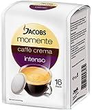 Jacobs Momente Pads, Caffè Crema intenso,16 Pads, 5er Pack (5 x 105 g)