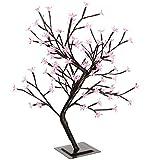 WeRChristmas Künstlicher 2FT 96LED beleuchtete Cherry Blossom Baum mit Braun Stamm und Zweige, pink