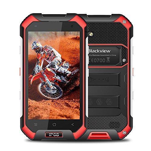 """Téléphone Portable Débloqué, Blackview BV6000 4G Dual SIM Smartphone Outdoor Avec 4.7"""" HD - Android 7.0 Octa-Core - 3Go RAM + 32Go ROM - Caméra 5MP + 13MP - 4500mAh Batterie, Smartphone IP68 Étanche/ Antichoc/ Antipoussière/ Capteur de Pression Atmosphérique (Rouge)"""
