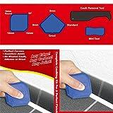 Kit di strumenti per calafataggio per rimozione di boiacca in silicone Kit di strumenti per raschietto sigillante per giunti (4 pezzi)