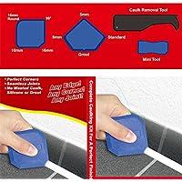 Tianu Kit de herramienta de calafateo con removedor de lechada de silicona Aplicador de raspador con junta sellante (4 piezas)