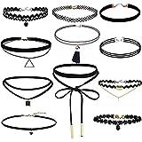 VENMO 11 Piezas Conjunto de Collar Gargantilla Terciopelo del Estiramiento Tatuaje Gótico Clásico Gargantilla de Encaje