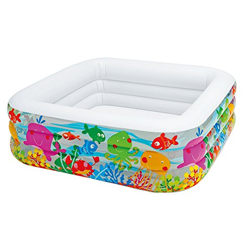 Intex 57471NP – Aufblasbarer Pool Swim Center Clearview Aquarium, 62 x 62 x 19 Zoll