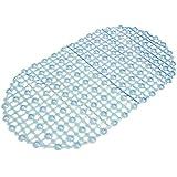 Alfombra de piso de bano - TOOGOO(R) Alfombra de piso antiderrapante de PVC de bano hidromasaje estera de ducha cojin del masaje taza de succion de color azul