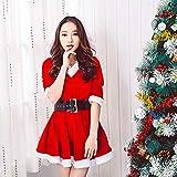EisEyen Weihnachtsmann Damen SAMT Erwachsenen Kollektion Rotkäppchen Kostüm mit Gürtel Kleid Unterrock