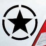 Auto Aufkleber in deiner Wunschfarbe Army Stern Star USA Amerika Militär Armee 10x10cm Autoaufkleber Sticker Folie