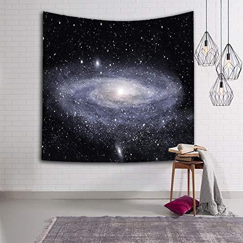 Der Wand Hängend Silbrig Hell Galaxy Digital Print Fabric,Modern Kunst Home Wand Dekoration Für Wohnzimmer,Schlafzimmer,Große Rechteckig Neuheit Böhmisches Hippie Psychedelic ()