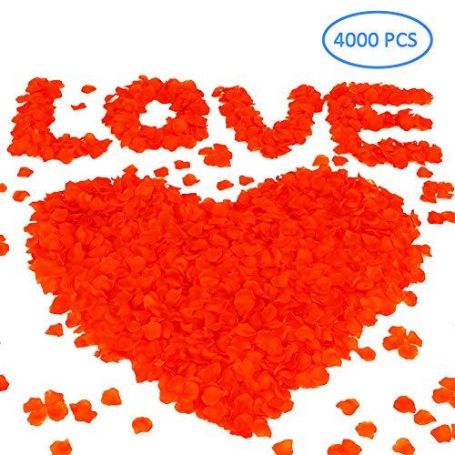 Petali di Rosa Finti Rossi | Addobbi Accessori Matrimonio Festa | Decorazioni per San Valentino, 4000 Pezzi