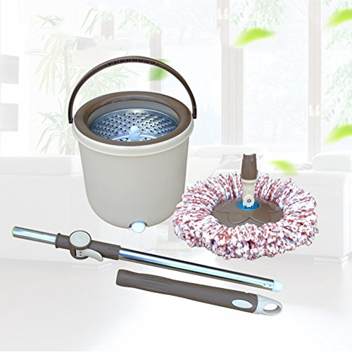Faire pivoter le seau de vadrouille double commande automatique de pression de main de vadrouille de séchage à la maison épaississement simple de baril