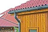 Marley Dachrinnen Set alle Größen und Farben mit Fallrohr Dachrinne Rinnensatz Regenrinne (1 Seite, 3 Meter, halbrunde RG 100 anthrazit)