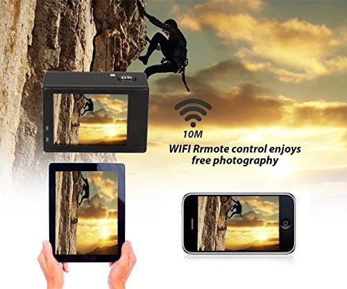 WiMiUS Action-Kamera 4K Action Cam 1080P 16MP Sport Action Kamera Wasserdichte Helmkamera - 5