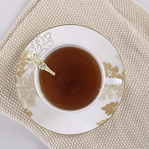 OLDK Royal Standard vergoldete Teetasse setzt Untertasse mit Ahornblatt-Design, Gold Royal Standard Bone China