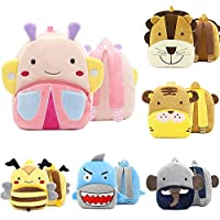 Catkoo Cute Toddler Backpack,Cartoon Cute Animal Plush Backpack Toddler Mini School Bag for Kids Age 1-12 Years Old Butterfly**