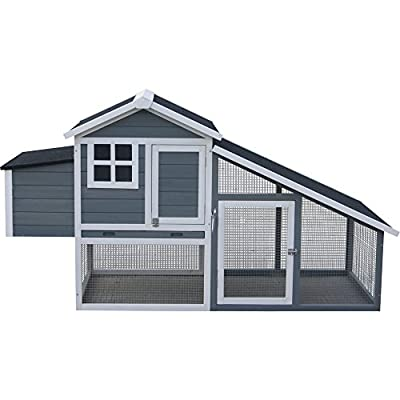 Premium Painted Chicken Coop Pen with Run by JTF Mega Discount Warehouse