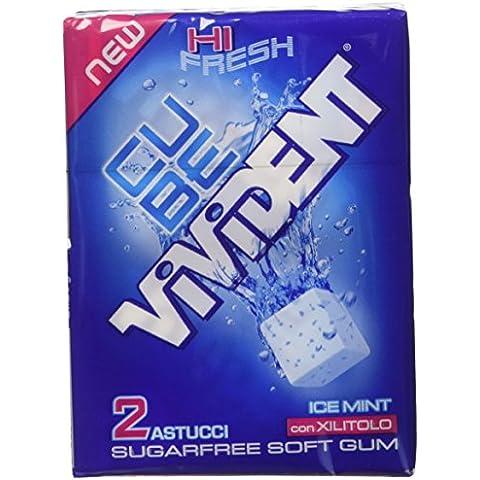 Vivident Cube Gomma da Masticare, Ice Mint - 2 Astucci