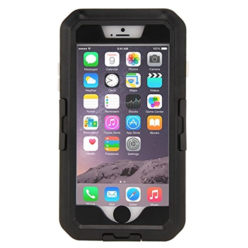YAN Für IPhone 6 / 6S, IPX8 wasserdicht Touch Sensitive Screen Case mit Fahrradhalter & Lanyard ( Color : Black ) Black