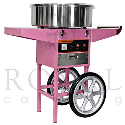 Royal Catering - RCZC-1200-W - Máquina de algodón de azúcar - con carrito - 1200 W - Envío Gratuito de Royal Catering