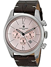 Charles-Hubert, Paris Men's 3959-RG Premium Collection Analog Display Japanese Quartz Brown Watch