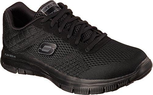Skechers Flex AdvantageMaster Plan, Chaussons Sneaker Homme Noir