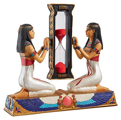Design Toscano WU573826 Dienerinnen des Pharaos Sanduhr, Resin, bunt, 5 x 18 x 16.5 cm