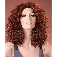 Forever Young - Parrucca da donna con lunghi boccoli di colore rosso 83ad1c39b7f4
