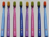 Ultra soft toothbrush 8 brushes Curaprox Ultra Soft 5460. Softer feeling & better cleaning, in bright & wonderful His & Hers colours .