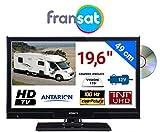 COMBINÉ TV DVD pour Camping Car LED 19,6' 49cm HD 12V Réception Satellite Carte...