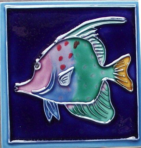 Continental Art Center M-116 Keramik-Magnet, Meeresfisch 2, 7,6 x 7,6 cm (Keramik-backsplash)