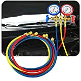 3 Stück Auto Klimaanlage Kühlmittel Aufladung Gasdruckmessgerät Schlauch Ventil
