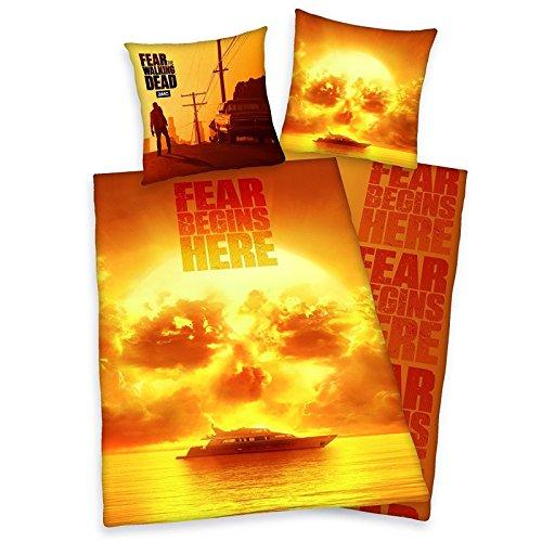 Fear The Walking Dead Bettwäsche, 2-teilig 80 x 80 cm, 135 x 200 cm Baumwolle 100{dad90fe650677093cbc6b0b33f2a4d7699915e854a3954312b308436d3f153c6} bunt