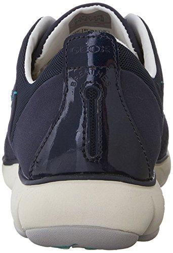 Geox D Nebula C, Baskets Basses Femme Blau (NAVYC4002)