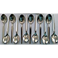 Pack of 12 Economy, High Quality Polished Stainless Steel Teaspoons.