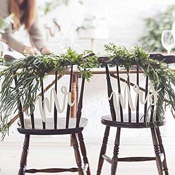 Stuhldeko Hochzeit – Stuhlanhänger Holz Mr und Mrs