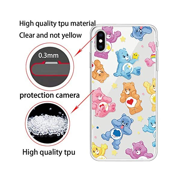 Miagon Clear Case for iPhone XS/X,Creative Cute Design Slim Soft Flexible TPU Back Cover Phone Case,Lovely Bear Miagon Please choose the right size of your phone before purchase.Only Perfectly Design for iPhone XS/ X The design will make your phone look fashionable and let you match any occasions. Allows Easy access to all buttons, controls and ports Made of Tpu.These material are selected for quality,strength,character.Prevent from finger prints and dirt.Raised lip and camera cutout offer lens & screen protection. Drop Protection, Shock Absorption, Anti- Slip, Anti-dust. 2
