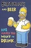 Die Simpsons Geburtstage und Bier Allgemeine Karte