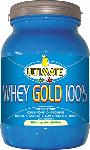 Ultimate Italia WGV750 Whey Gold 100 % Proteine del Siero del Latte - 750 gr