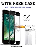 #1: US Boston™ Tempered Glass 5D Curved Edge 9H Hardness, Edge to Edge Border Tempered Glass Protector for iPhone 6 & 6S - Black