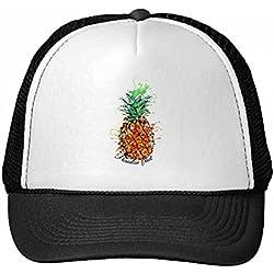 DIYthinker Nylon Gorra de béisbol de la Fruta de Naranja piña Tropical Gorros Gorro Fresca niños del Casquillo del Sombrero Ajustable Regalo de los niños